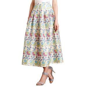 Anthro payal pratap cross-stitch skirt 10